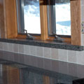Granite Window Sill in Kitchen