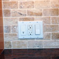 Decora 3 Gang Switch Plate in Tile