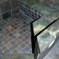 Bathroom 2 Stone Shower Benches Top View