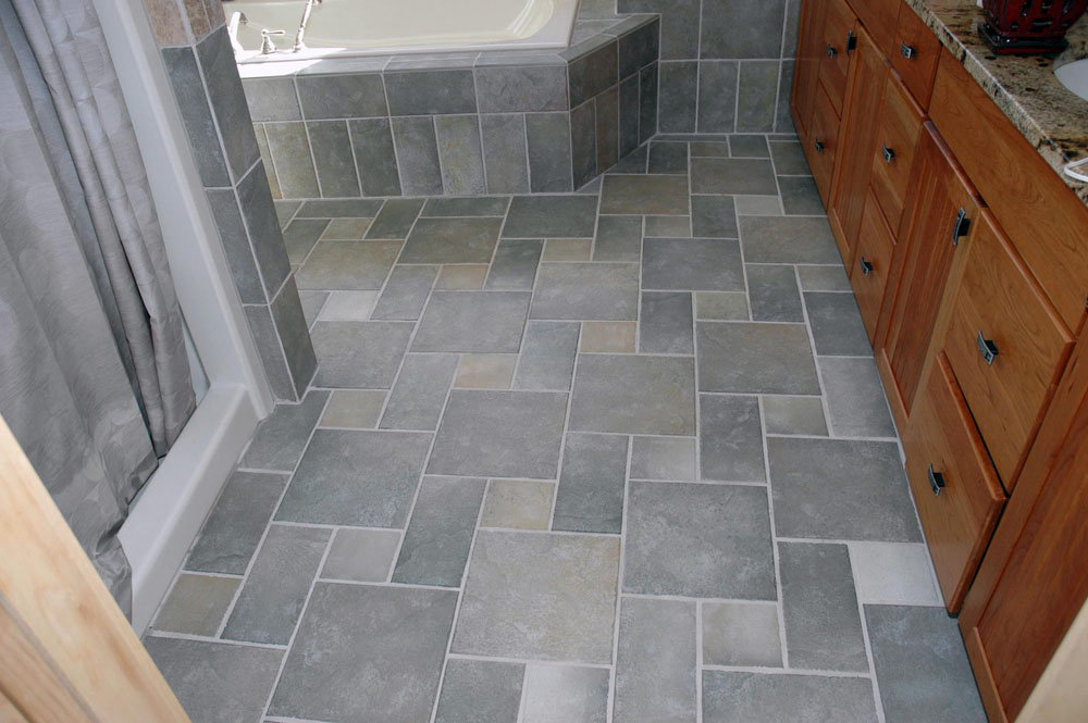 Bathroom Floor Tile Brick Pattern