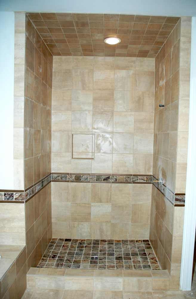... Tile Shower Wall With Insert Design ...