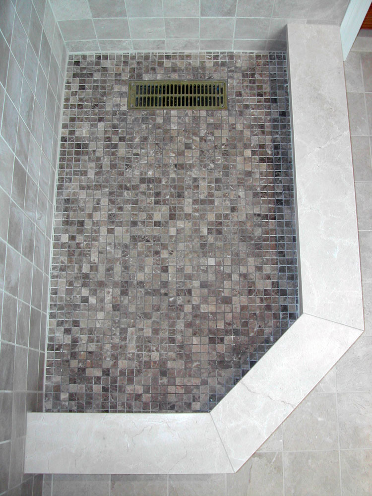 Brenner remodeling tile work gallery Mosaic tile designs for shower